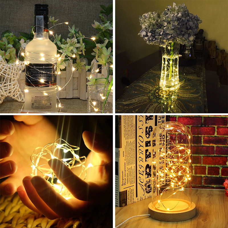 New USB LED Strip String Lights Copper Wire String Light Holiday Outdoor Lights For Christmas Wedding Decor 1/2/3/4/5/6/10m