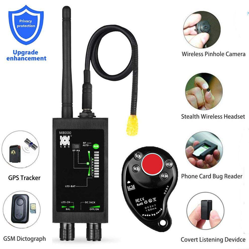 1mhz 12gh rádio anti espião detector de sinal do fbi gsm rf detectores de rastreador automático gps localizador bug com antena led magnética longa|Detector de câmera antiespionagem|   -