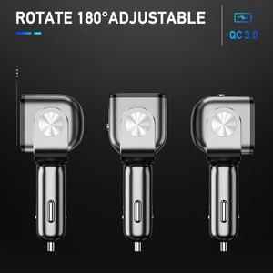 Image 5 - Enchufe de encendedor de coche, cargador Dual USB QC 3,0, carga rápida, 12V, enchufe adaptador de corriente