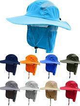 Connectyle Mens Women Summer UPF 50+ Sun Visor Protection Cap Wide Brim Fishing Hat with Neck Flap