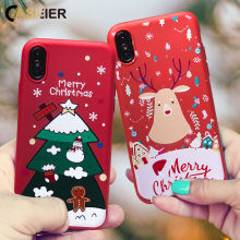 Funda de Navidad CASEIER para iPhone XS MAX XR X Funda de silicona suave para iPhone 8 7 6s plus 5 5S SE Funda para iPhone 7 8 6 6s Funda para iPhone 11 pro max Funda para iPhone XR XS MAX X Funda para iPhone 6 6S(China)