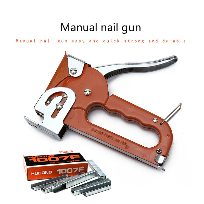 Nail Gun Oil Painting Canvas Photo Frame Needle U-shaped Nail Grab Martin Tools Stapler Art Supplies With Staples