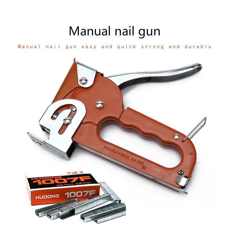 Nail Gun Oil Painting Canvas Photo Frame Needle U-shaped Nail Grab Martin Tools Stapler Art Supplies With Staples