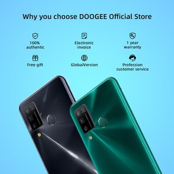 """DOOGEE N20 Pro Quad Camera Mobile Phones Helio P60 Octa Core 6GB RAM 128GB ROM Global Version 6.3"""" FHD+ Android 10 OS Smartphone 5"""