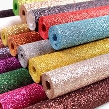 Изготовленный на заказ размер блестящий нетканый блестящий материал для пошива швейных изделий DIY обувь с бантом сумки блестящая Нетканая ткань с блестками