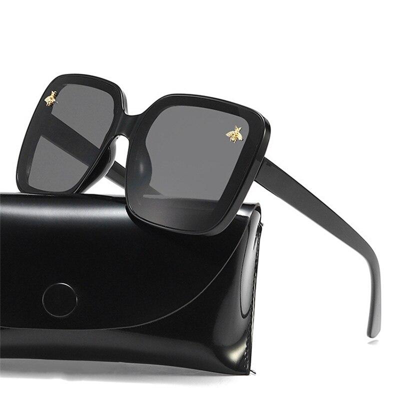 2020 Glasses Little Bee  Brand Oversized Sunglasses Women Luxury Gradient Sun Glasses Big Frame Vintage Eyewear UV400
