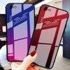 หรูหรากระจกนิรภัย gradient Stained Glass กรณีโทรศัพท์สำหรับ iPhone 11 Lot PRO MAX x XR XS 8 7 6 6 S PLUS Soft EDGE ป้องกันการบุกรุก