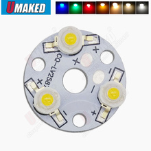 9W Plate-Board Light. Bulb Leds 10PCS 3W with 1W Chips Installed Aluminum for Led-Pcb