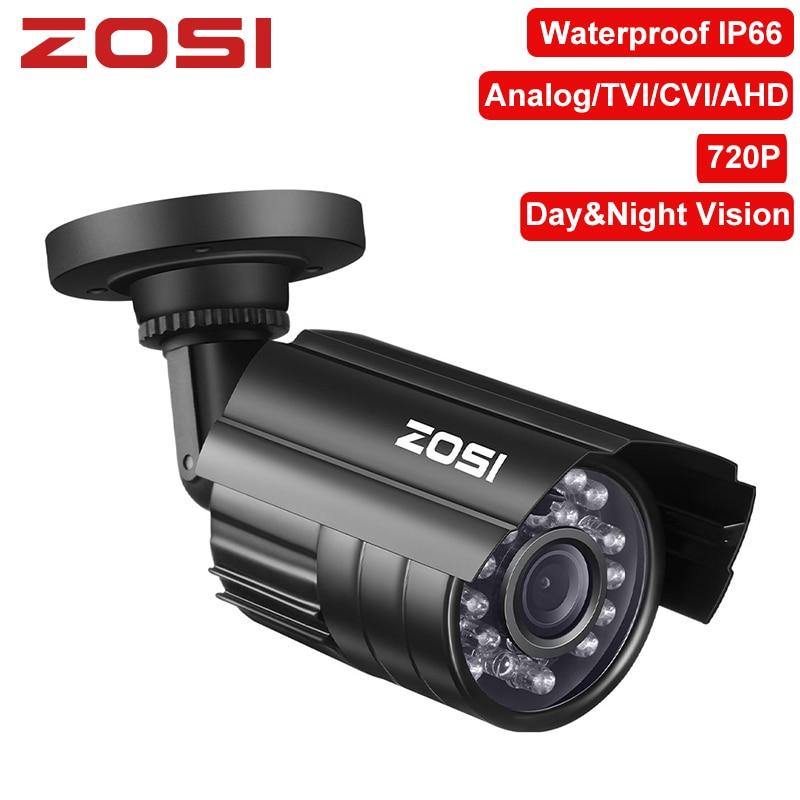 ZOSI 720P 1MP TVI/AHD/CVI/Analog CCTV Nightvision Motion Sensor Waterproof Bullet Camera-in Surveillance Cameras from Security & Protection