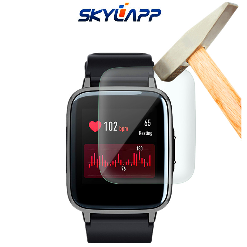 3 Pcs Smart Watch Tempered Screen Protector Guard Cover Shield Film For Haylou LS01 HD Anti-scratch Electrostatic PET Film