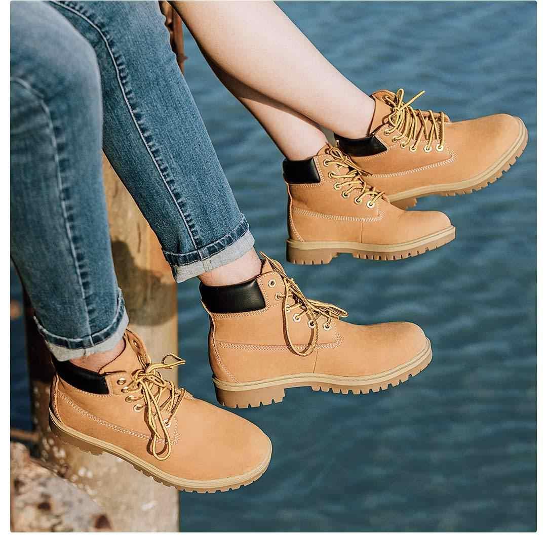 Xiaomi klasik takım çizmeler erkek kadın Martin çizmeler sıcak kışlık kıyafet dayanıklı kaymaz Lace Up kahverengi ayak bileği ayakkabı iş çizmeleri