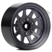 "4PCS/Set Metal Alloy 10 Spokes Wheel 1.9"" BEADLOCK Rims for 1/10 RC Rock Car Traxxas TRX 4 Axial SCX10 90046 AXI03007 RC Parts"
