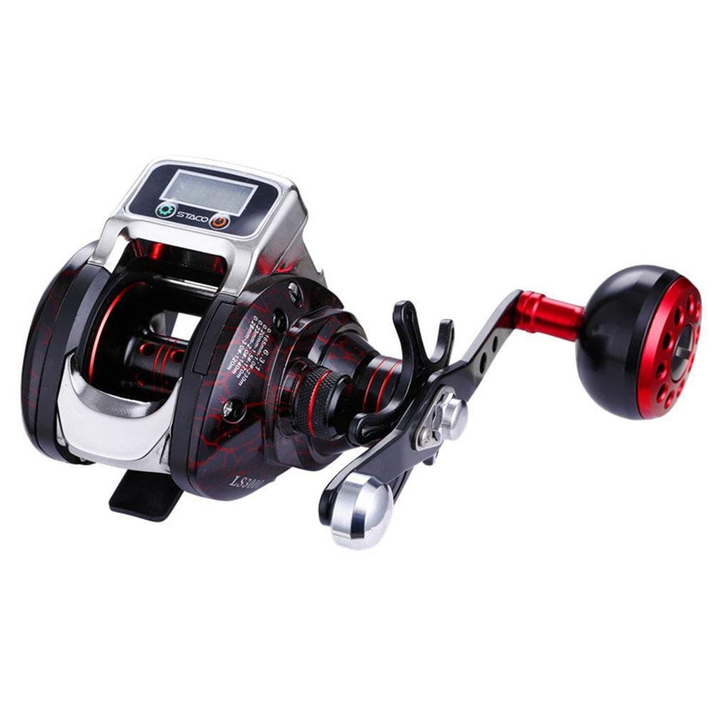 6.3:1 Tools Saltwater Plastic Fishing Reel Accessories Hand Spinning 15 Ball Bearing Aluminium Spool Digital Display Portable