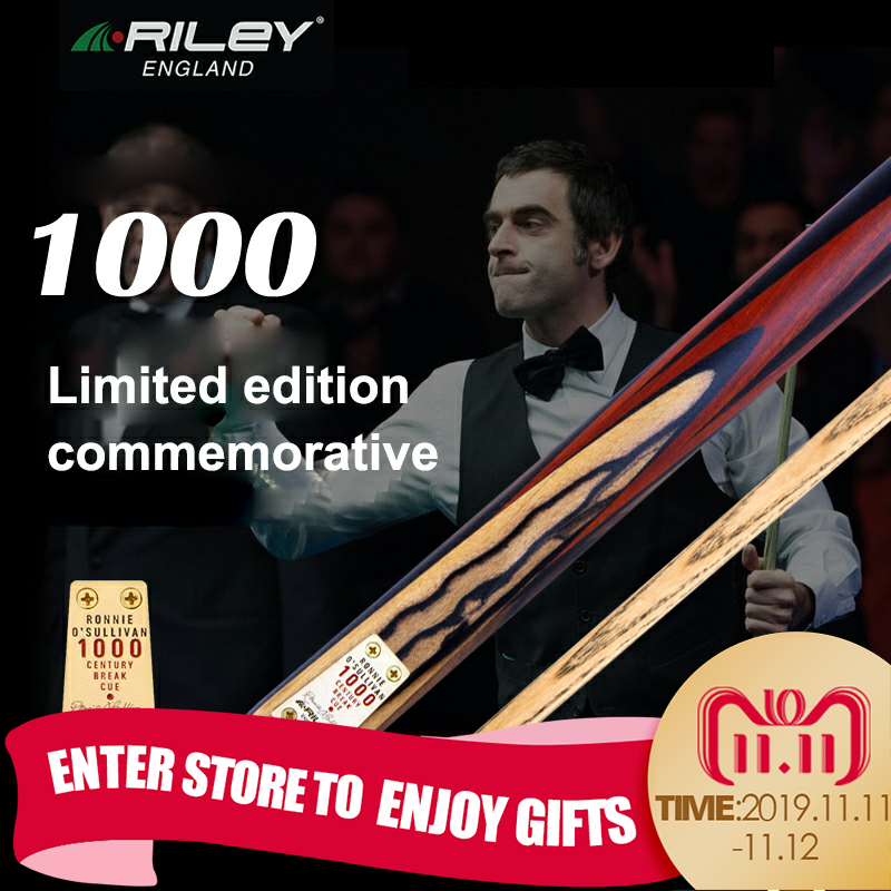 Original US RILEY RCENT-101 High-end Handmade 9.5mm One Piece Billiard Snooker Stick Cue with Case Extension Limited to 1000