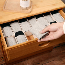 Home decor gift 6Pcs DIY Grid Drawer Divider Household Necessities Storage Organizer Plastic Divider For Desk Drawer Closet