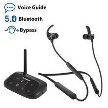 Avantree HT5006 słuchawki bezprzewodowe słuchawki douszne do oglądania telewizji, słuchawki na szyję