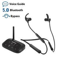 Avantree Wireless Headphones Earbuds for TV Watching,Neckband Earphones Hearing Set w/Bypass Bluetooth Transmitter for Optical
