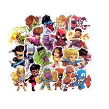 50pcs/pack mixed marvel avengers stickers scrapbooking bullet journal cute cartoon decoration Diary Stationery