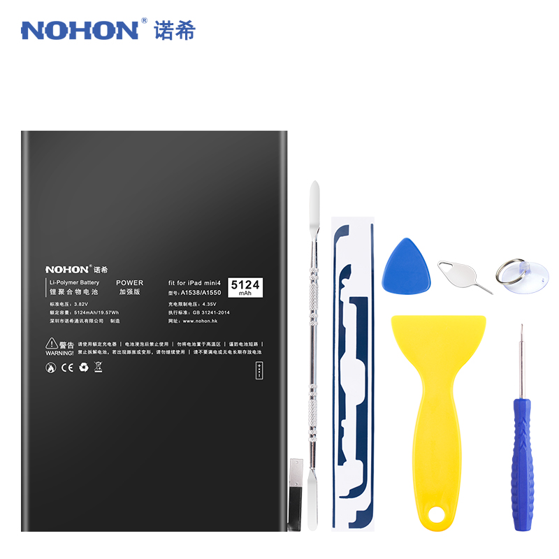 NOHON Battery For iPad Mini 4 Mini4 A1550 A1538 Replacement Tablet Battery 3.82V High Capacity Lithium Polymer Batarya