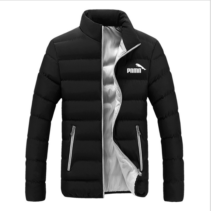 Padded-Jacket Wild-Trend Thickened Autumn Men's Winter Plus-Size Casual New And Stand-Up-Collar