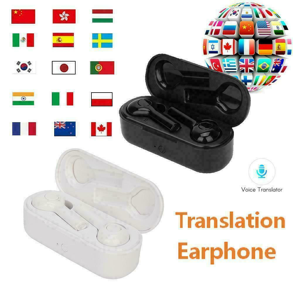 32 Languages Portable Instant Voice Translator Earphone Bluetooth Wireless Translate Earbuds Real-time Ear Translating Headphone