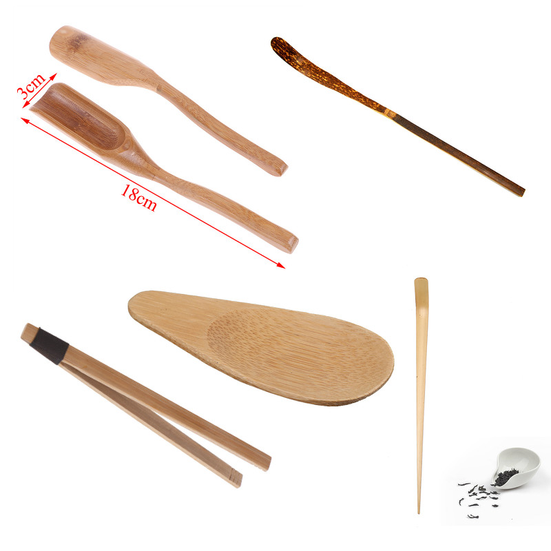 Natural Bamboo Tea Scoop Retro Style Tea Clip Delicate Spoon For Tea Honey Sauce Coffee Tea Leaves Chooser Holder