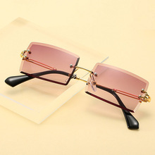 Rectangle Ladies Sunglasses Women Rimless Square Polarized Sun Glasses For Ladies Zonnebril Dames Vrouwen Bril feishini fashion black gradient sun glasses crystal square rimless sunglasses women vintage oversized classic brand designer