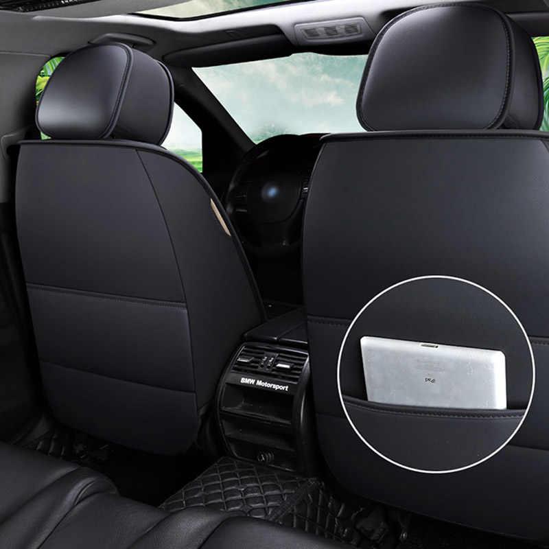 1 adet deri araba klozet kapağı Volkswagen polo 9n polo sedan 6r passat b3 Golf 7 5 6 Tiguan aksesuarları klozet kapağı s arabalar için