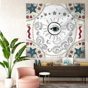 Image 3 - טארוט שטיחי שמש כוכב ירח תלוי שטיח היפי קיר תליית שמיכת קיר שטיח יוגה מחצלת בית תפאורה