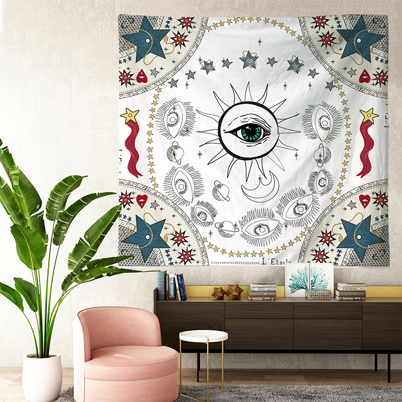Image 3 - Tarot Tapestries Sun Star Moon Hanging Tapestry Hippie Wall  Hanging Blanket Wall Carpet Yoga Mat Home DecorTapestry   -