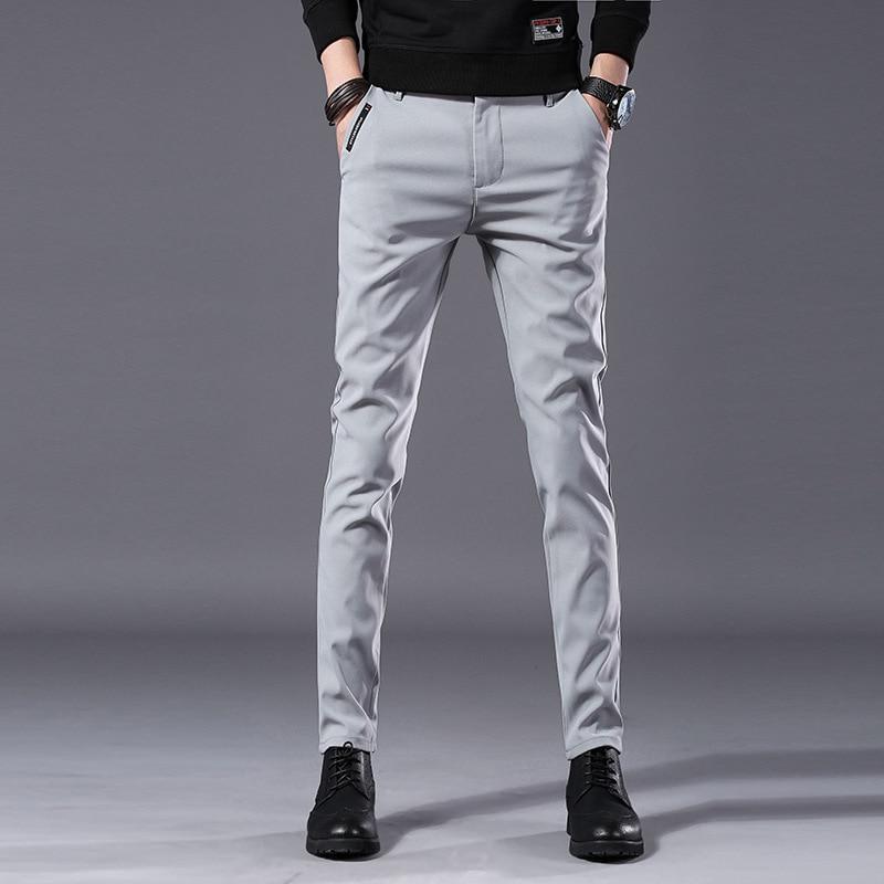 2019 Pantalones Para Hombre De Alta Calidad Casuales De Algodon Elastico