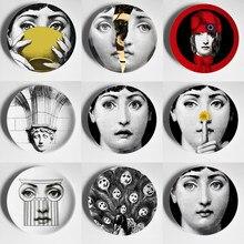 Ev dekorasyon Tema yüz seramik el sanatları plakaları dekoratif duvar asılı yemekleri duvar plakaları İskandinav tarzı