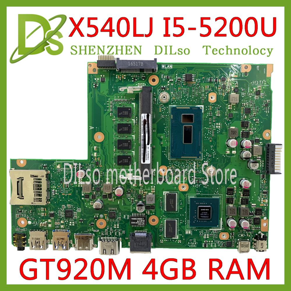KEFU X540LJ motherboard For ASUS X540L F540LA X540LA Laptop motherboard 4G RAM I5-5200U GT920M-2GB REV2.1 Test work 100%