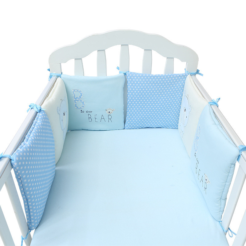 6PCS/set Bed-Bumpers Cribs Toddler Baby Soft Crib Bumper Infant Toddler Cotton Bed Cot Protector Nursery Bedding