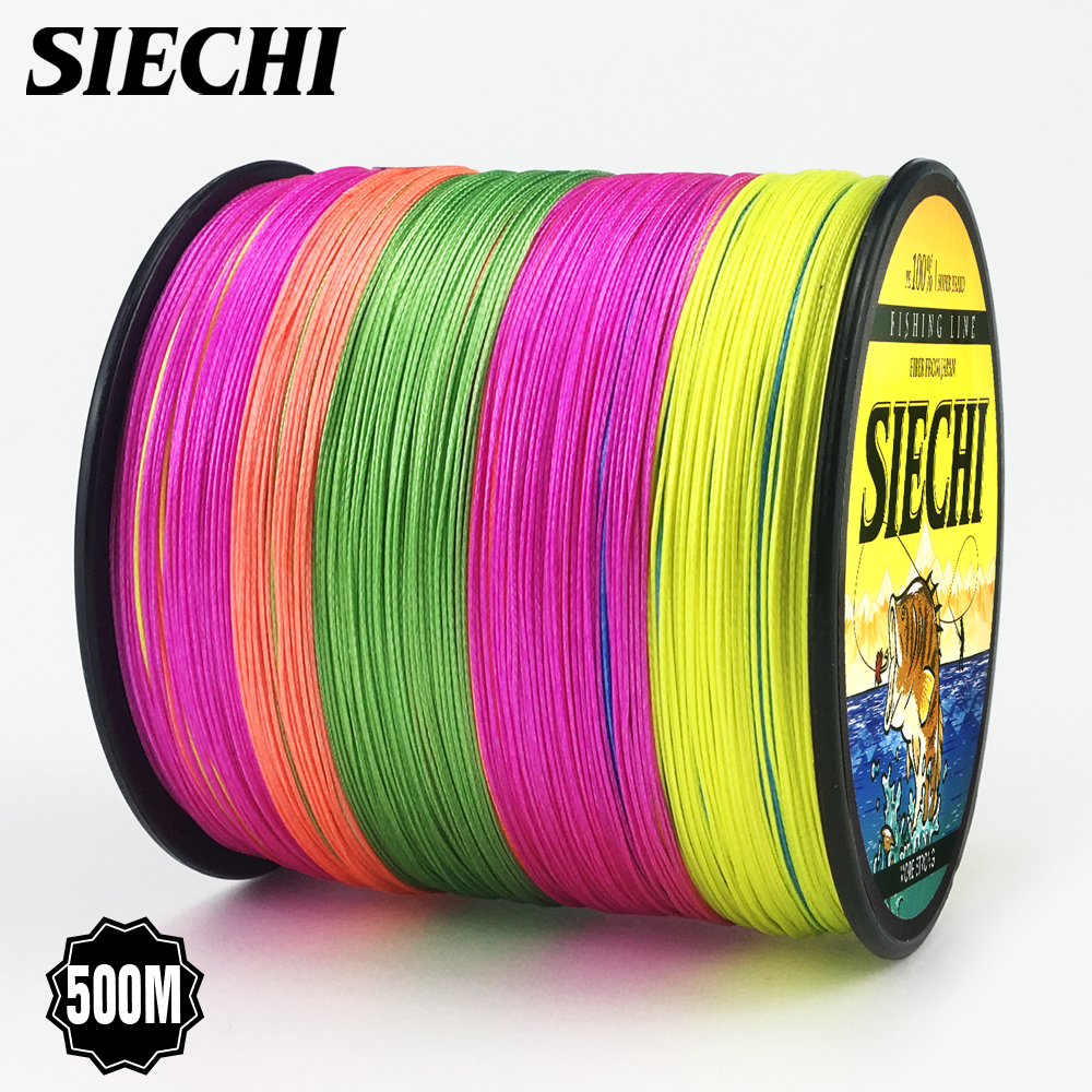 2018 NEW Fishing Line 8 Strands 4 Strands PE Braided 500 Meters Multifilament Fishing Line Rope peche carpe Wire 20-88lb