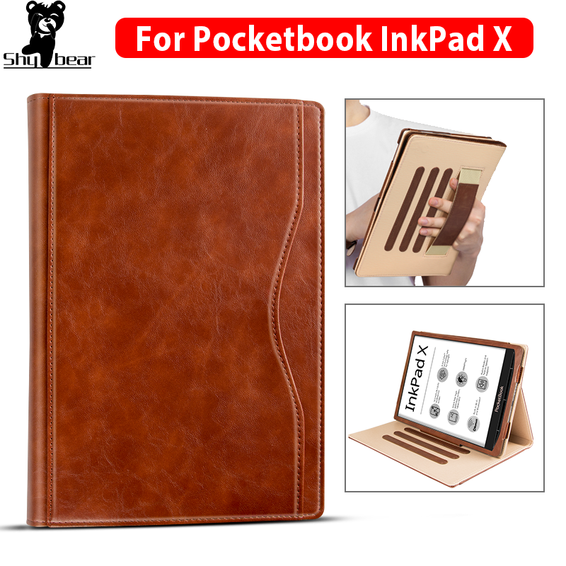 For Pocketbook X 2020 Folding Case For Pocketbook InkPad X 10.3 Inch Pocketbook Case Cover With Hand Holder Stand Leather Capa