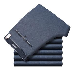 Image 4 - กางเกงทำงานชายชุดด้านล่างชุดลำลองตรงธุรกิจคลาสสิกกางเกงอย่างเป็นทางการขนาดใหญ่กางเกงชายสูงเอวกางเกง