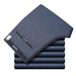Image 4 - Pantalon décontracté, de coupe droite et grande taille pour homme, tenue formelle et classique de travail, de bureau, de taille haute