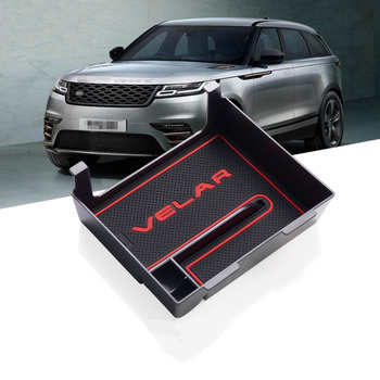 Car Central Storage Box Door Glove Armrest Organizer Box For Landrover Range Rover VELAR 2017 2018 2019 Accessories Car Styling 1