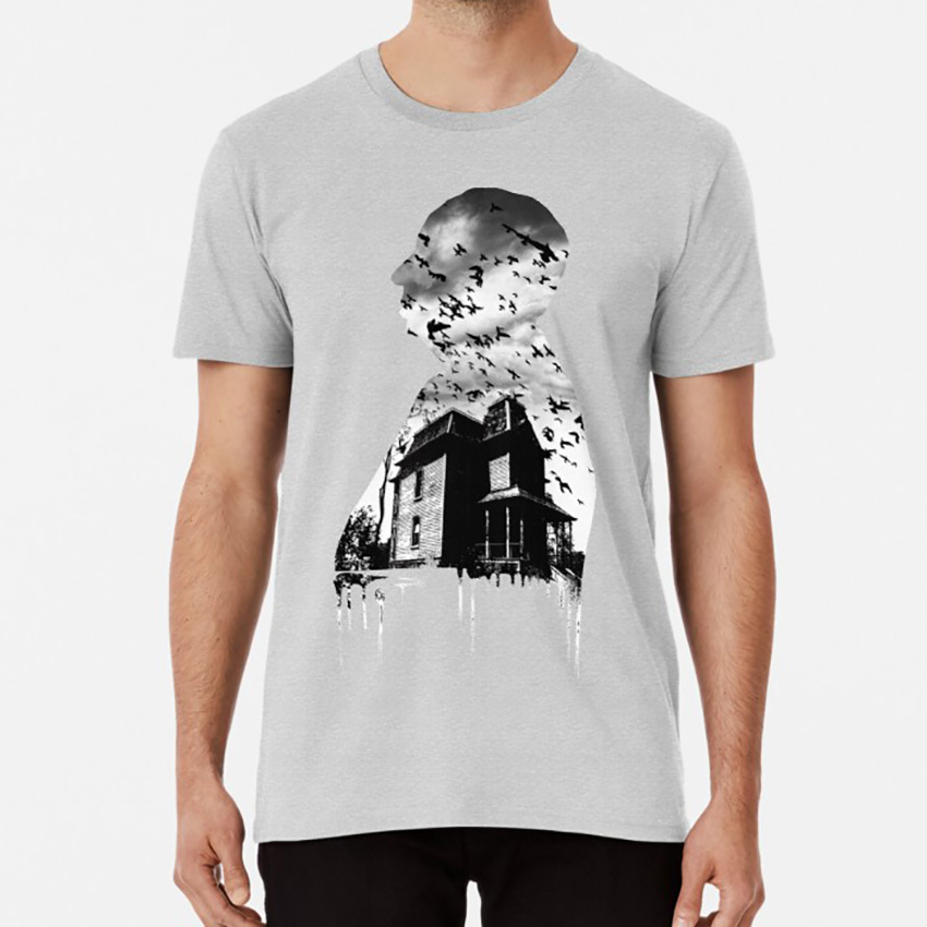Alfred Hitchcock Collage T shirt bates mansion hotel hitchcock psycho psicosis norman bates alfred alfred hitchcock movies image