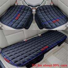 Pokrowiec na samochód przód tył uniwersalny cztery pory roku czarny poduszka siedziska antypoślizgowe tylne krzesło z oparciem poduszka na siedzenie dla pojazdu Auto sit cover tanie tanio COTTON CN (pochodzenie) 0inch 133cm Pokrowce i podpory Przechowywanie i Tidying Wodoodporne Podstawową Funkcją 55cm comfortable series