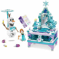 Legoings amigos criador modular fada princesa rainha elsa caixa de jóias blocos de construção modelo feminino kits brinquedos 41168 41169