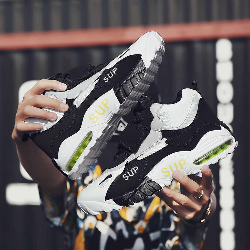 2019 летняя легкая обувь мужская Повседневная дышащая в сеточку кроссовки Удобная мужская обувь для бега на плоской подошве спортивные Tzapatos De Hombre