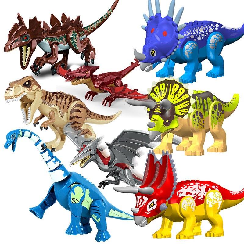 Конструктор «Мир Юрского периода», динозавр, тираннозавр, велоцираптор, фигурки животных, подарок для мальчика на день рождения, детские иг...