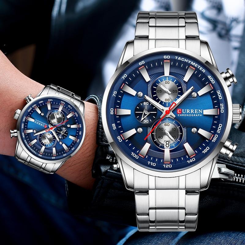New Watches For Men Top Luxury Brand CURREN Quartz Men's Watch Sport Waterproof Wrist Watches Chronograph Date Relogio Masculino