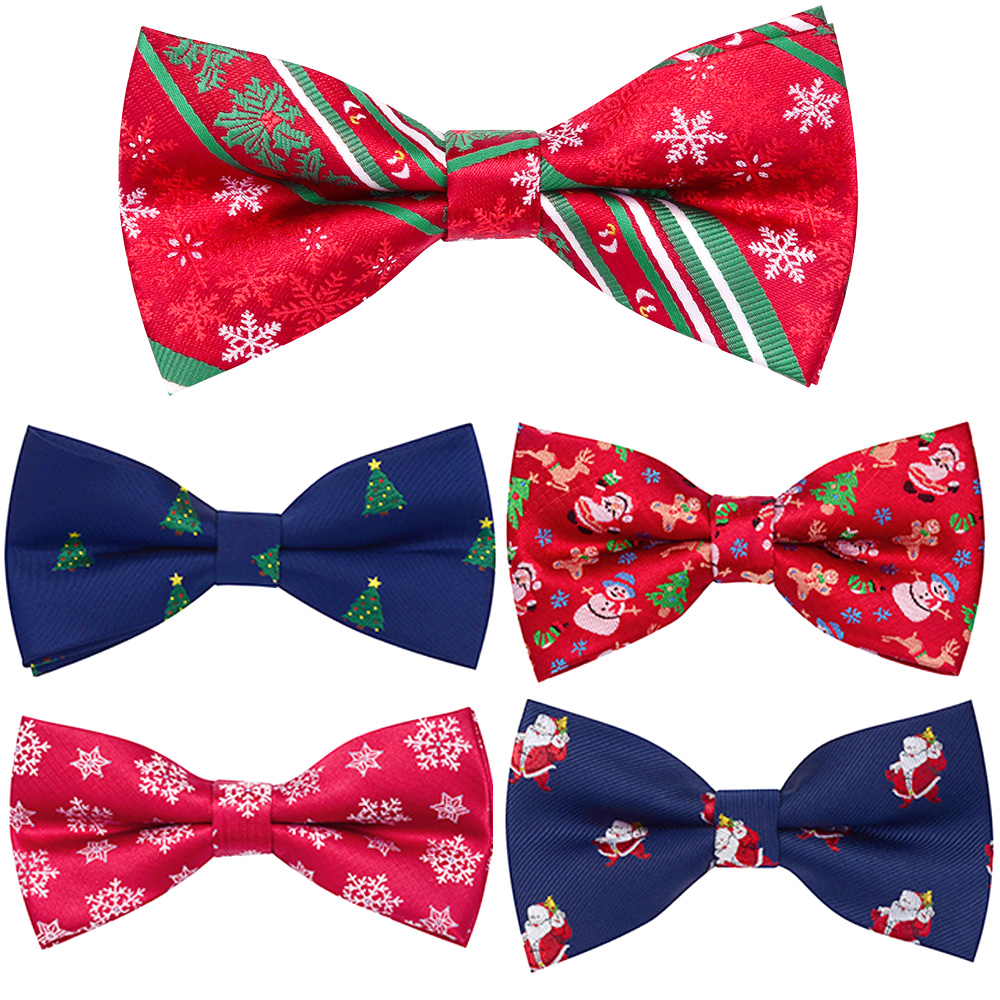 Ricnais  Brand New 2019 Christmas Bow Tie Christmas Tree Snowman Santa Claus Bow Ties Green Red Fastival For Men Wedding Gife