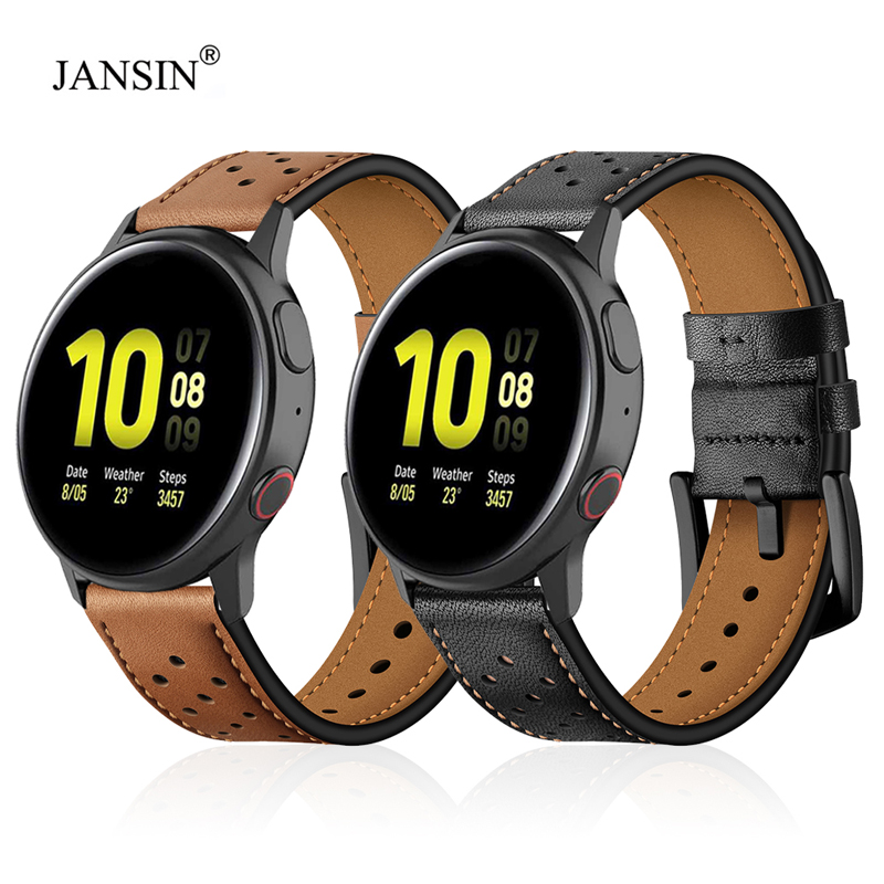 Leather Watchband For Samsung Galaxy Watch Active 2 40mm 44mm Wrist Bracelet Strap For Galaxy Watch Active 2 Replacement Band