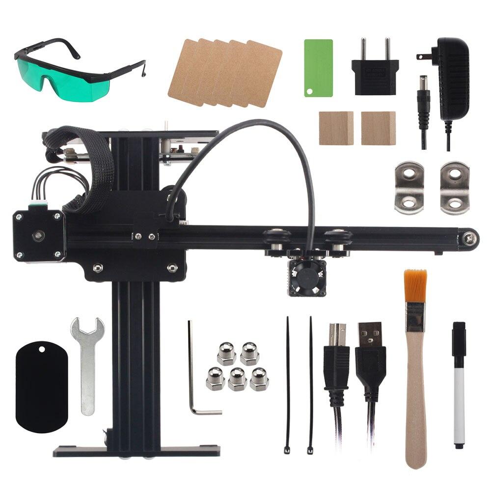 Maître 12V2A 7W Laser gravure Machine bricolage Mini CNC coupe bois routeur bureau graveur pour métal/bois/plastiques