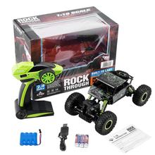 Kids 2.4GHz RC Auto 4WD Rock Crawler Rally Klimmen Auto 4x4 Dubbele Motoren Bigfoot Auto Afstandsbediening model Off-Road Voertuig Speelgoed(China)