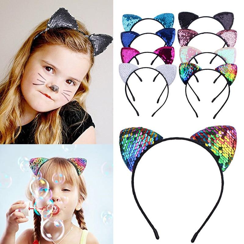 Women Girl Kids Cute Sweet Bunny Cat Kitty Costume Ear Party Hair head band Prop